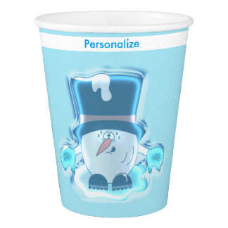 Frozen Snowball Guy Paper Cup