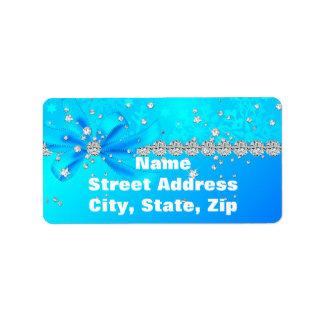 Frozen Snowflakes Label