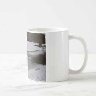 Frozen stream in New Forest Coffee Mug