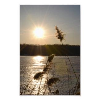 FROZEN SUNSET ON THE LAKE.1 PHOTO PRINT