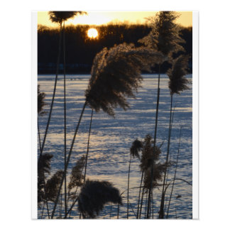 Frozen Sunset on the Lake.2 Photo