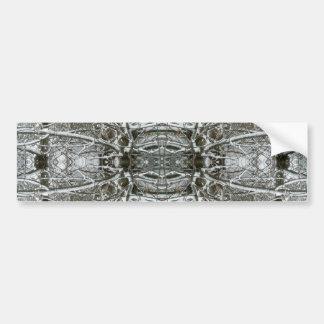 Frozen Symmetry Kaleidoscope Abstract Fractal Art Bumper Sticker