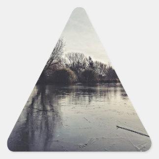 Frozen Triangle Sticker