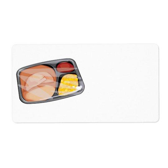 frozen tv dinner shipping label