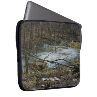 Frozen Water Camo Woods Laptop Sleeve