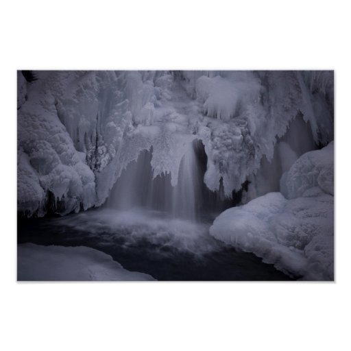 Frozen water fall poster