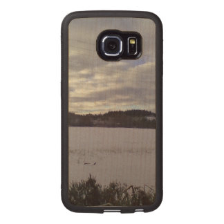 Frozen water nature wood phone case