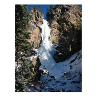 Frozen Waterfall Postcard