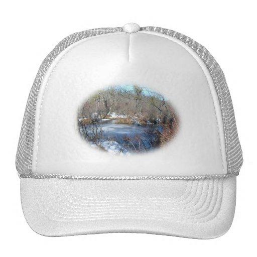 Frozen Wetlands Pond Hats