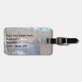 Frozen Wetlands Pond Luggage Tag