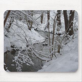 Frozen Winter River Mouse Mat