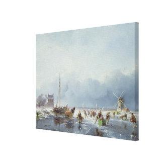 Frozen winter scene canvas print