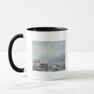 Frozen winter scene mug