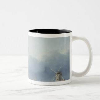 Frozen winter scene Two-Tone coffee mug