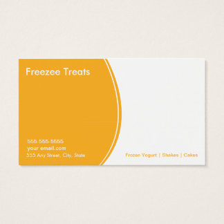 Frozen Yogurt Customer Loyalty Business Card