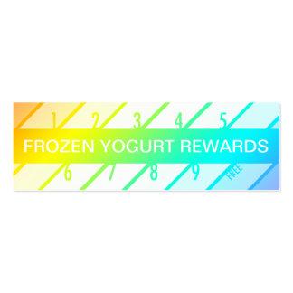 frozen yogurt loyalty card (retrograde) pack of skinny business cards