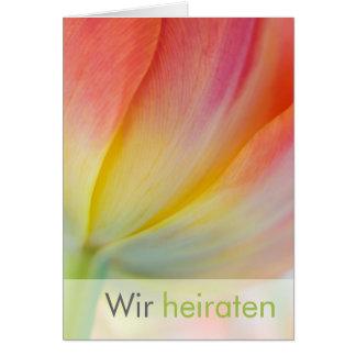 Fruehling • Hochzeitseinladung Greeting Card