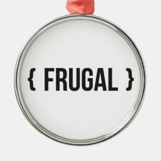 Frugal - Bracketed - Black and White Christmas Ornament