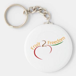 Fruit 2 Freedom Basic Round Button Key Ring