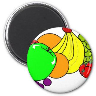 Fruit 6 Cm Round Magnet