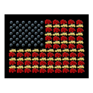 Fruit American Flag Postcard