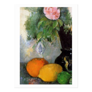 Fruit and Flowers by Paul Cézanne Post Cards