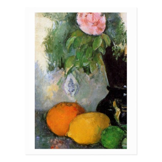 Fruit and Flowers by Paul Cezanne Postcard
