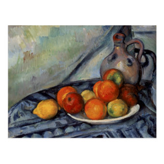 Fruit and Jug on a Table by Cezanne Postcard