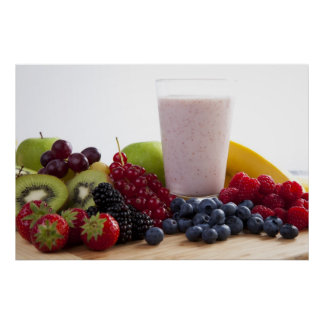 Fruit and Smoothie Print