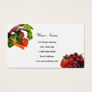 Fruit and Vegetable Business Cards