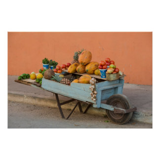 Fruit and vegetable cart, Cuba Poster