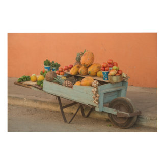 Fruit and vegetable cart, Cuba Wood Canvases