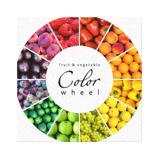 Fruit and vegetable color wheel (12 colors) canvas print