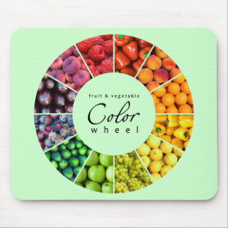 Fruit and vegetable color wheel (12 colors) mouse pad
