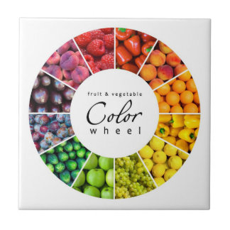 Fruit and vegetable color wheel (12 colors) tile