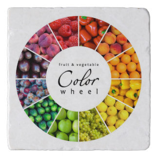 Fruit and vegetable color wheel (12 colors) trivet