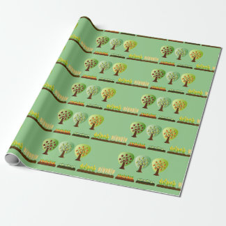 Fruit and vegetable farm wrapping paper