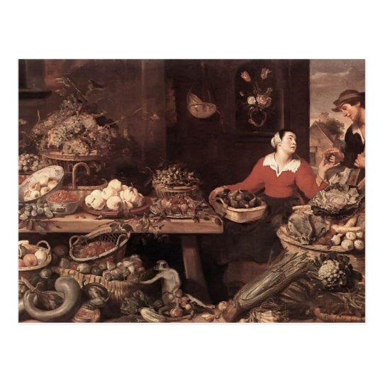 Fruit and Vegetable Market by Frans Snyders Postcard