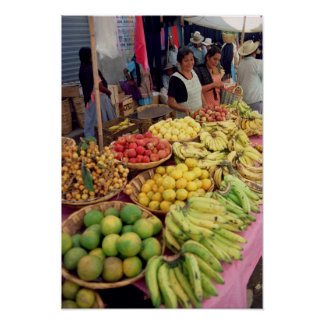 Fruit and vegetable stall poster