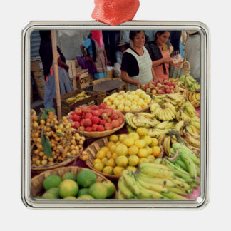 Fruit and vegetable stall Silver-Colored square decoration