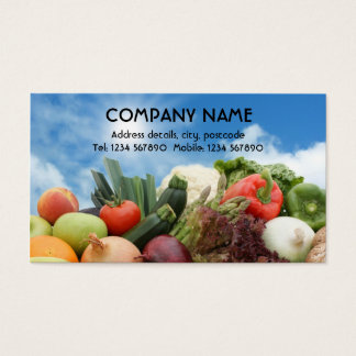 Fruit and vegetables business card
