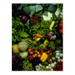 Fruit and vegetables post cards