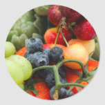 Fruit and Vegetables Round Sticker