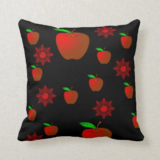 fruit apple lovers throw red black pillow