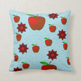 fruit apple lovers throw red blue pillow