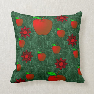 fruit apple lovers throw red green pillow