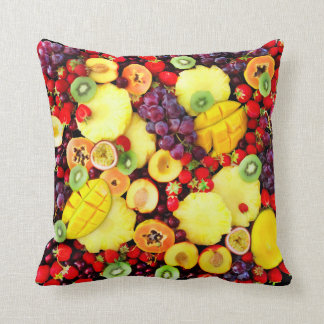Fruit Art Design Colorful Warm Tropical Deco Cushion