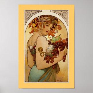 Fruit - Autumn c1897 Poster