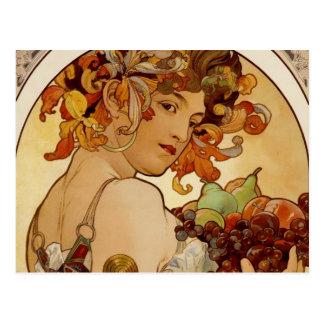 Fruit - Autumn - circa 1897 Postcard