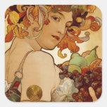 Fruit - Autumn - circa 1897 Square Sticker